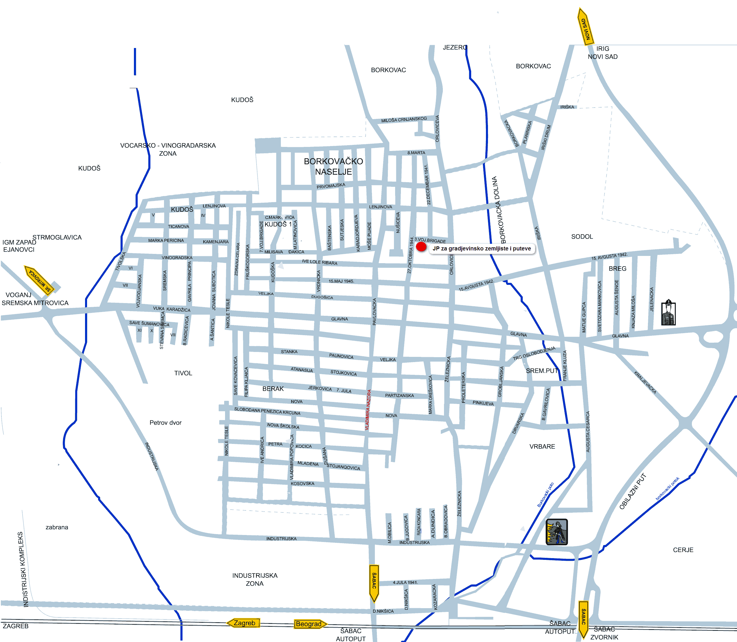 mapa rume Дирекција за изградњу Руме mapa rume